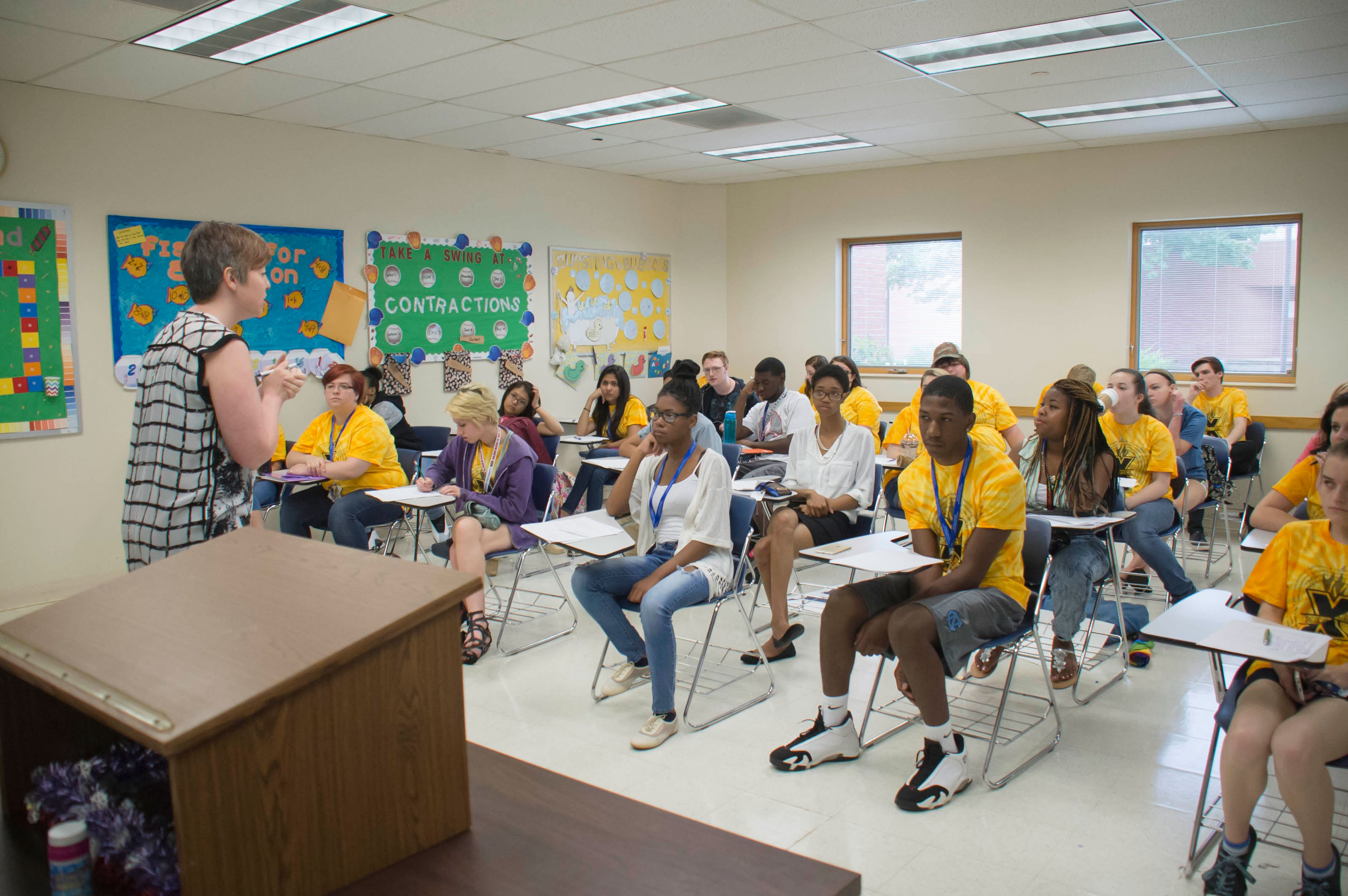 X-mester classroom at Vincennes University