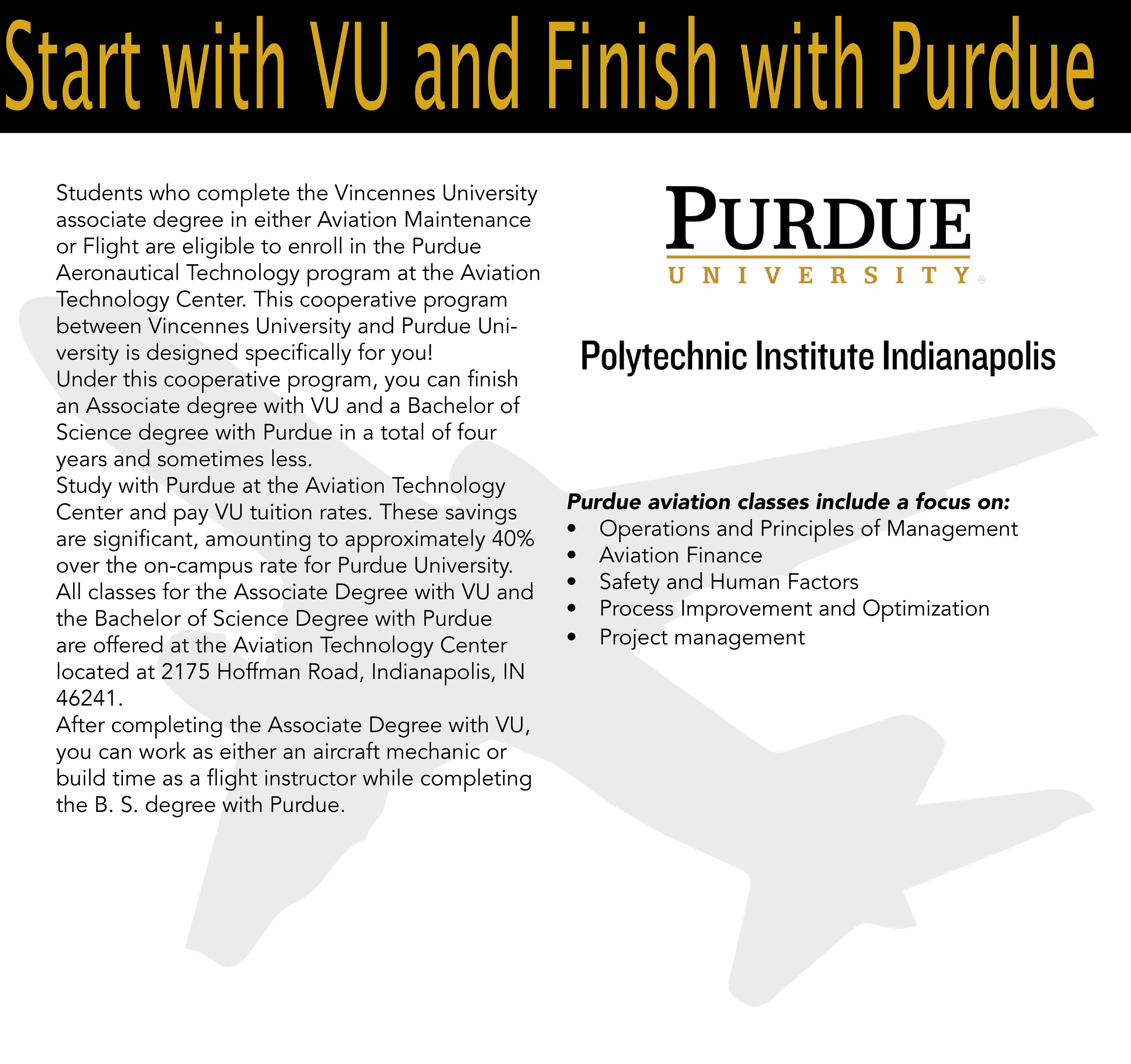 Purdue Aviation Technology Center Vincennes University