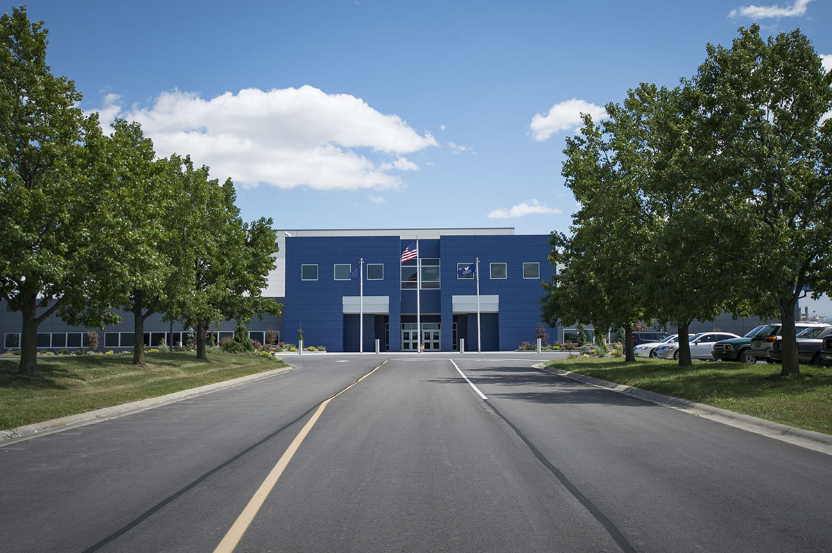 Exterior of the Vincennes University Aviation Technology Center
