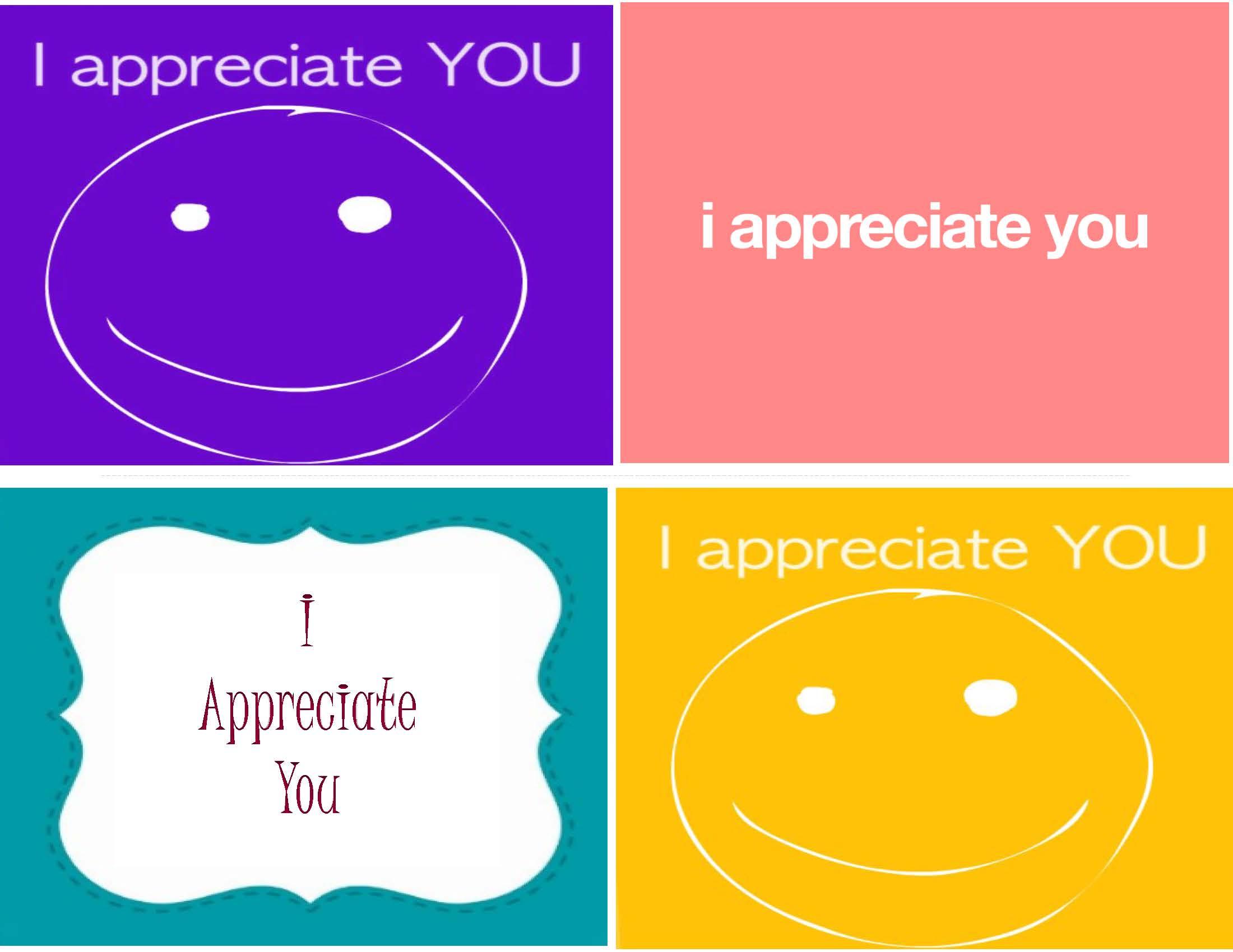 I Appreciate